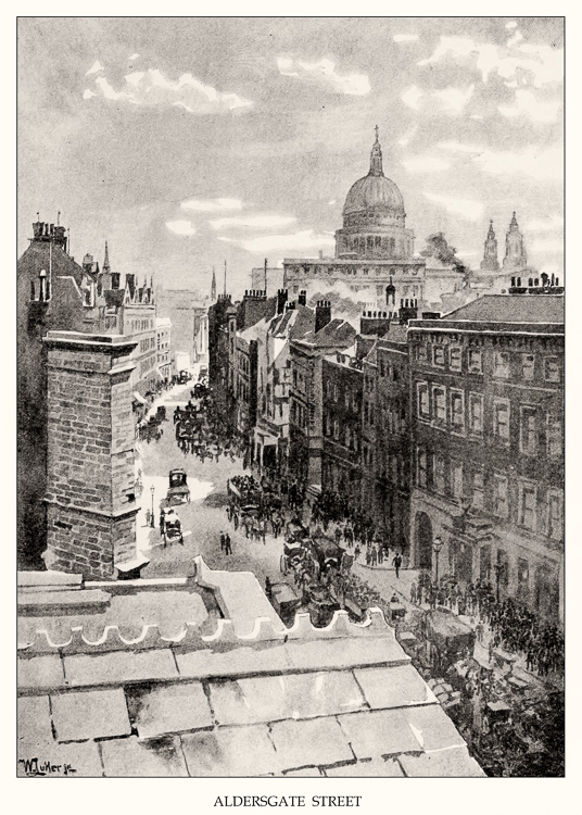Aldersgate Street, 1891