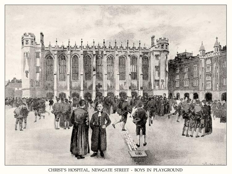 Christ's Hospital, Newgate Street, 1891