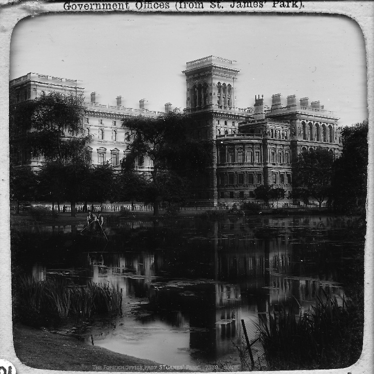 Foreign Office from St James's Park, c1890