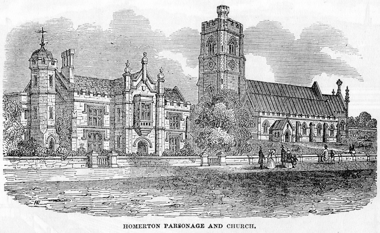 Homerton Parsonage and Church, 1851