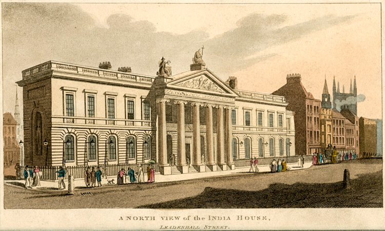India House, Leadenhall Street, c1850