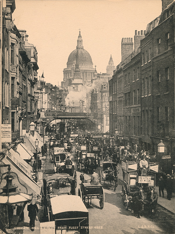 Ludgate Hill and Circus from Fleet Street