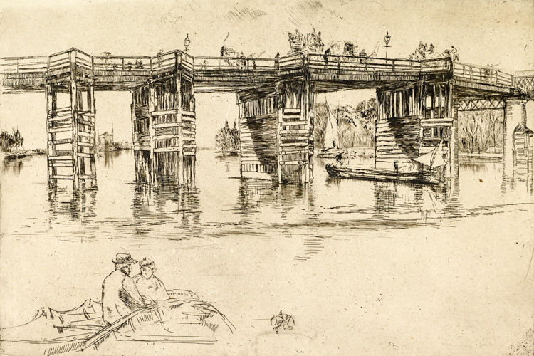 Old Putney Bridge, 1876