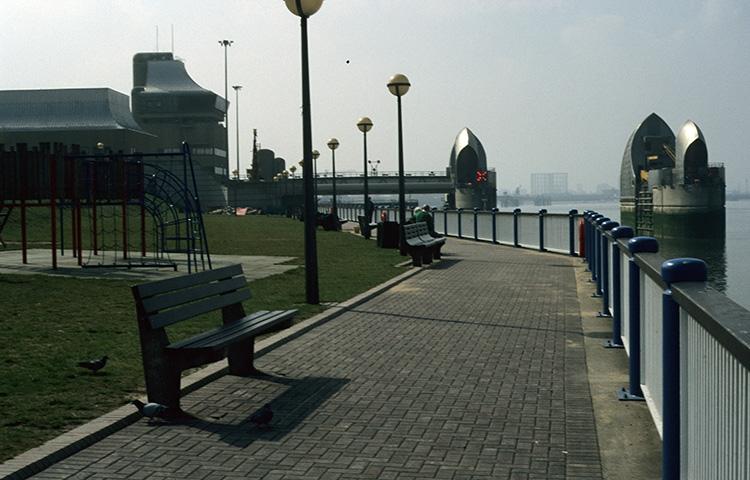 Riverside walk, Thames barrier, 1996