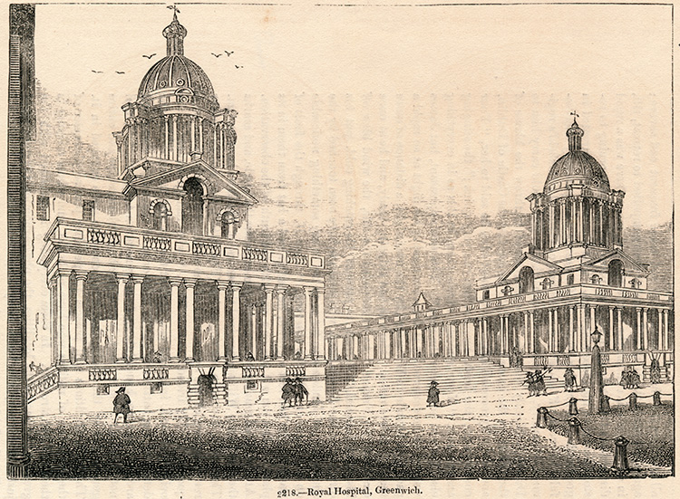 Royal Hospital, Greenwich, 1845