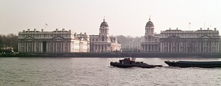 Royal Naval College from Island Gardens