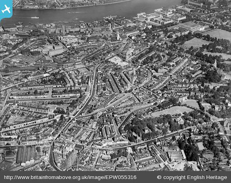 Greenwich South Street and surrounding area, Greenwich, 1937 - Britain from Above