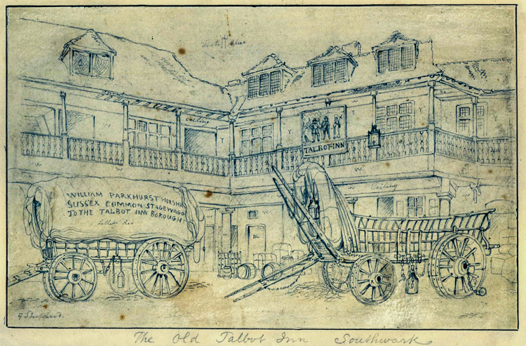 Talbot Inn, Borough High Street, 1810