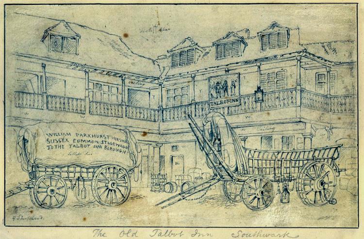 Talbot Inn, Borough High Street, 1810