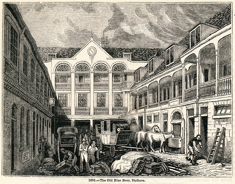 The Old Blue Boar, Holborn, 1845